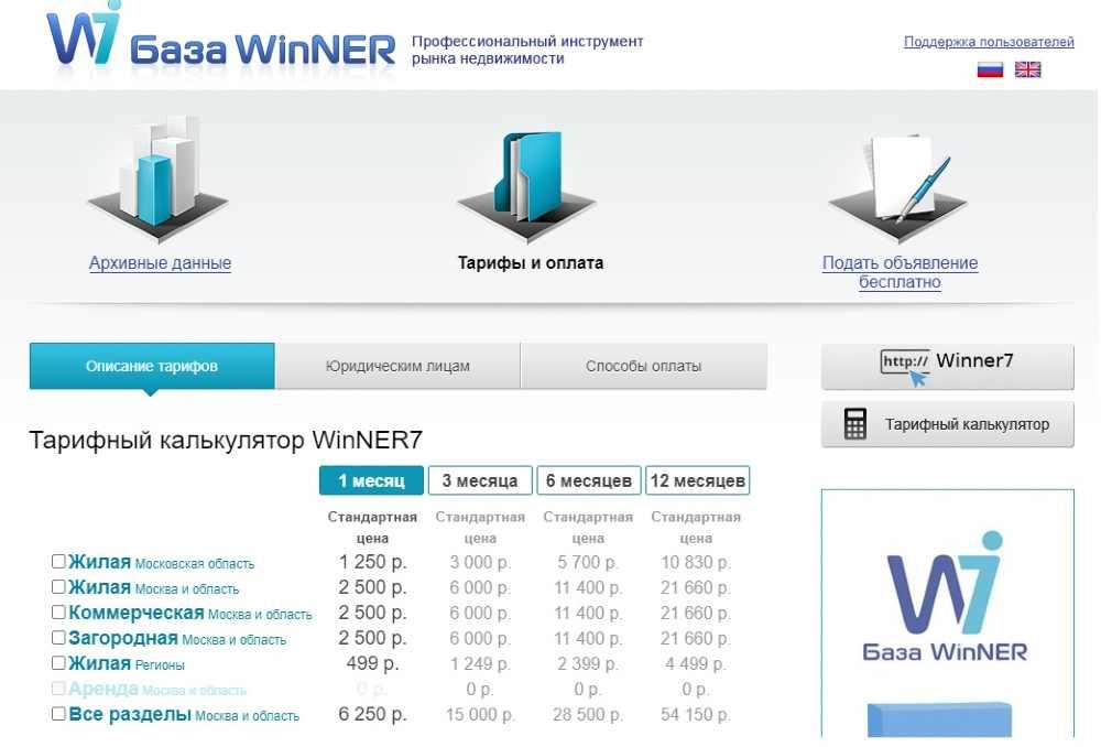 База WinNER Винер
